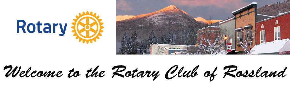 Welcome to the Rotary Club of Rossland